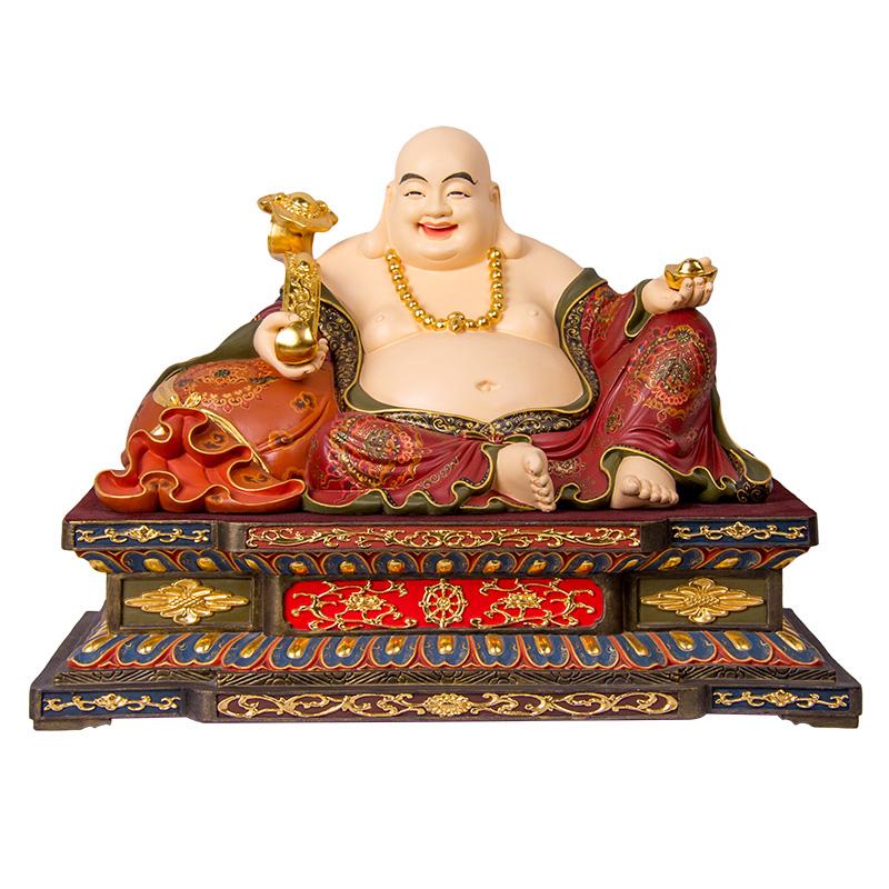 彌勒佛 純銅古彩工藝